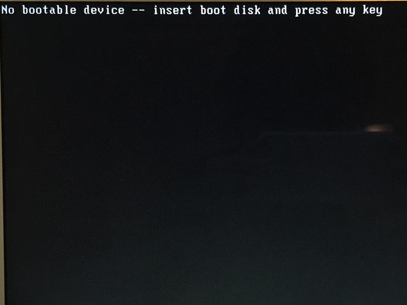 Windows10 インストール時に真っ黒な画面
